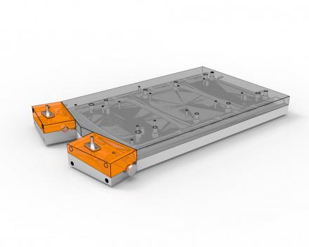 Aluminium matrijzen, aluminium vorm voor de fabricatie van kunststoffen veiligheidspoorten