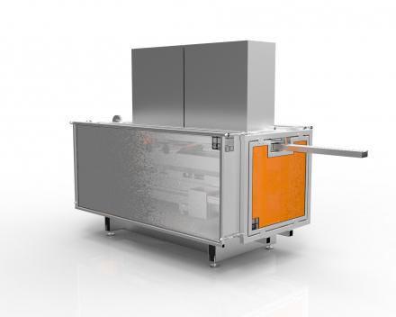 Extrumill, 3-assige CNC-freesmachine voor plastiek profielen vlak na de extruder
