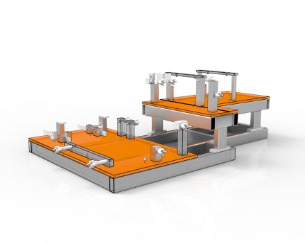 Las en montage kaliber om een industriële warmtewisselaar samen te stellen