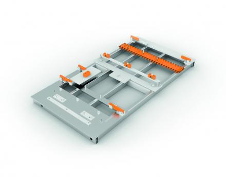 Las en montage kaliber om verschillende productieonderdelen samen te stellen en op positie vast te houden