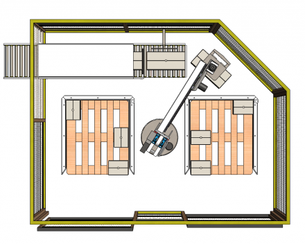 palletiser voor industrie paletten boven 1200x1000