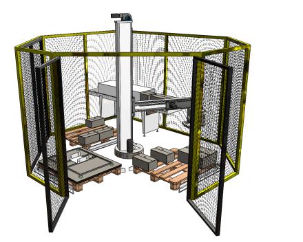palletiser voor industrie paletten open 1200x1000