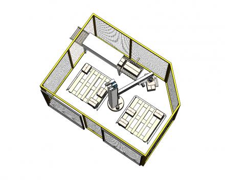 palletiser voor blok paletten dicht 1200x1200