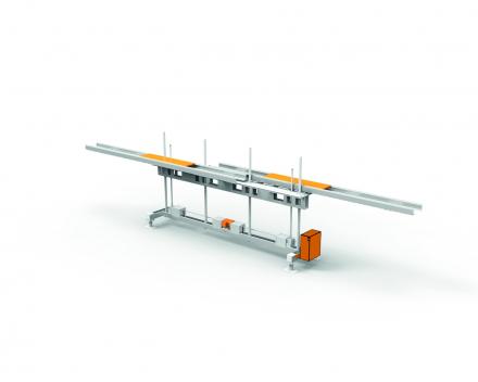 Naaldlift, manipulatietoestel om scherpe, zware onderdelen op een veilige manier uit een machine te halen