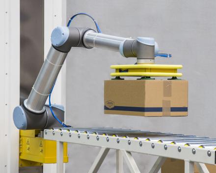 palletiser met een robot