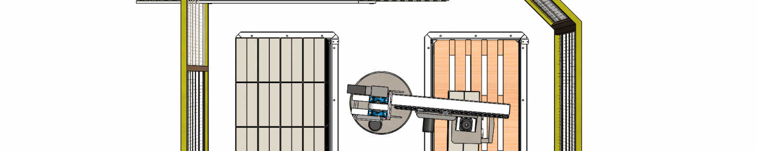 compacte palletiser voor 2 europaletten