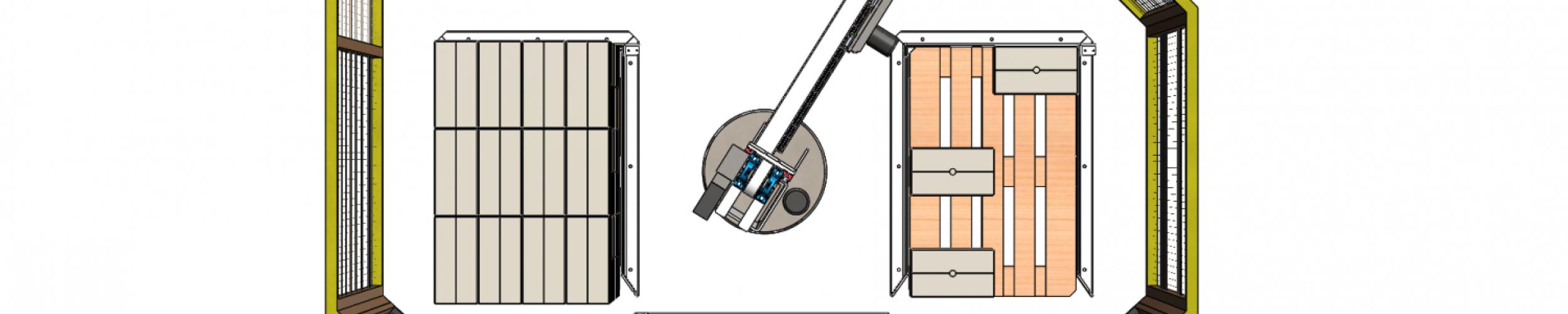 Compacte palletiser voor 3 europaletten